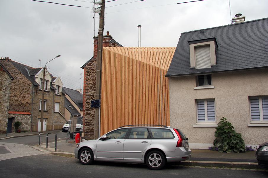 extension d 39 une maison rennes 35 ossature bardage et mnm architectes rennes. Black Bedroom Furniture Sets. Home Design Ideas